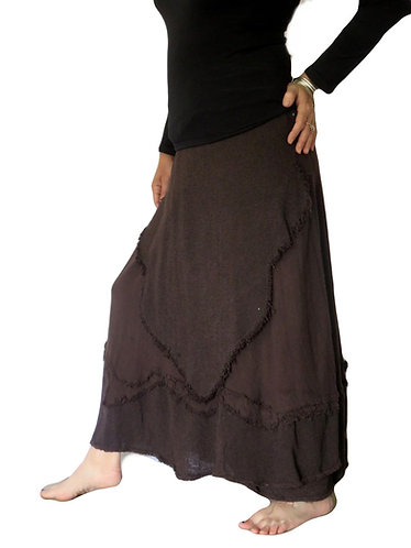 jupe femme marron