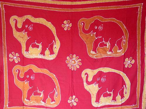 tenture indien batik elephant