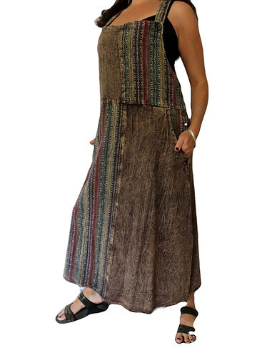 robe hippie stonewash marron