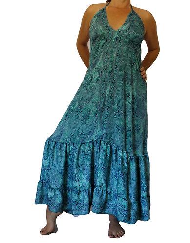 Robe ethnique bleue