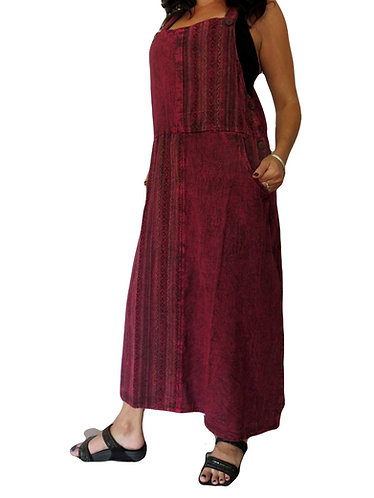robe hippie stonewash bordeaux