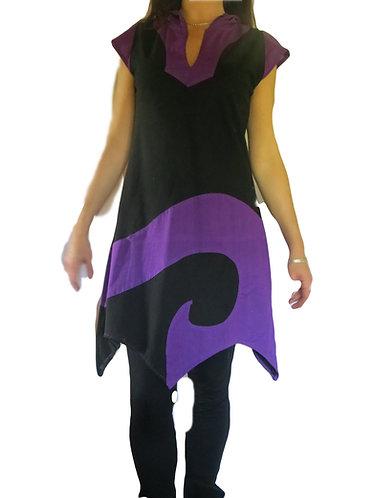vetement teuf noir violet