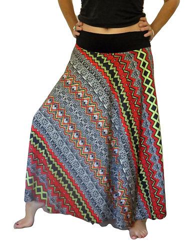 jupe ethnique rouge