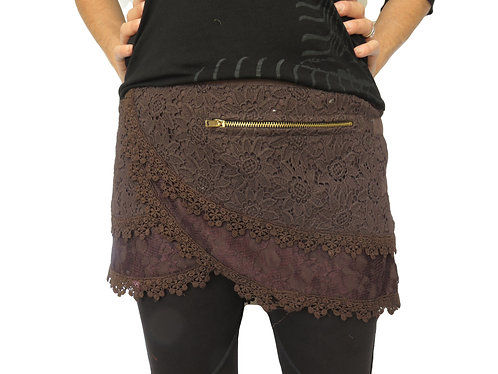 jupe tribal marron