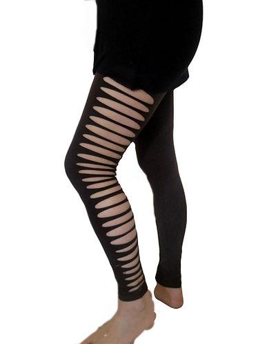 Legging Troué Marron