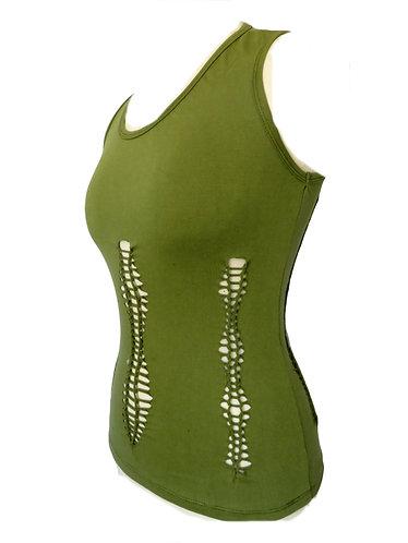 tunique ethnique femme verte
