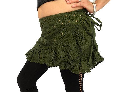 jupe tribal vert