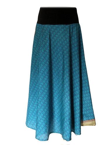 vetements ethniques jupe bleue