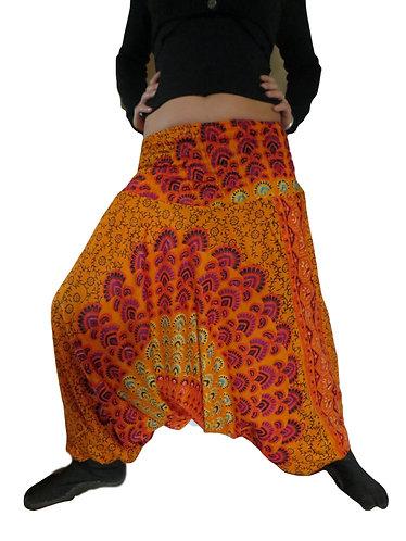 sarouel ethnique orange