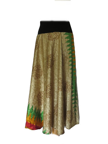 jupe soie ethnique