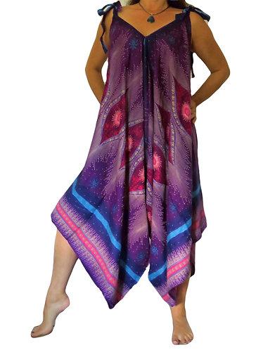 harem jumpsuit violet