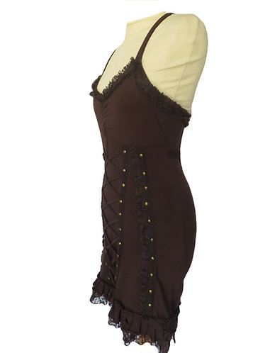 robe ethnique marron