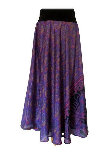 jupe hippie soie violet