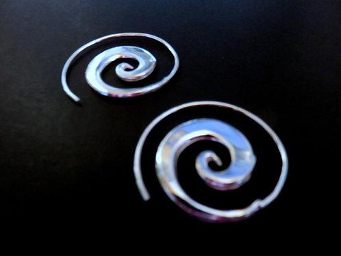 Boucle d'Oreille Spirale