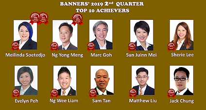 Banners' 2019 2bd Quarter Achievers