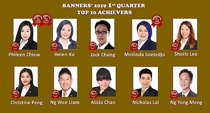Banners' 2019 1st Quarter Achievers