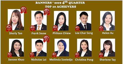 Banners 2019 4th Quarter Achievers