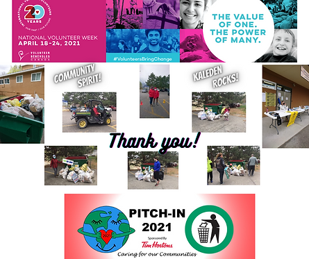 Thank you for Pitch-In 2021
