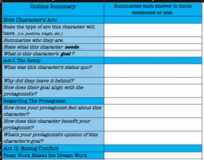 Side Character Arc - Excel Workbook