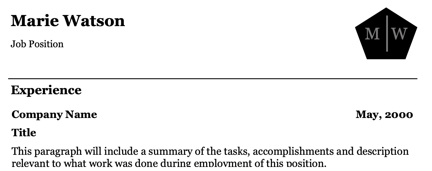 Resume Sample 7