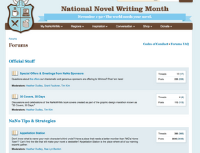 NaNoWriMo's Forums, and Why You Should Be Apart of Them