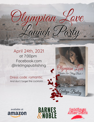 Olympian Love - Launch Party Flyer