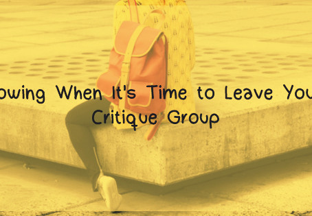 Knowing When it's Time to Leave You're Critique Group
