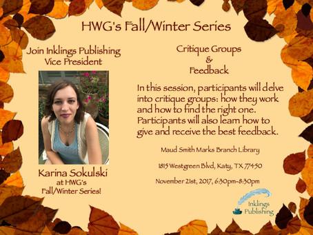 Meet Me at HWG's Fall/Winter Series!