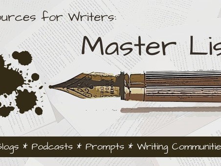 Resources for Writers: Master List