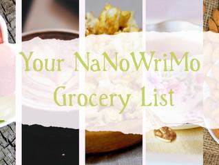 NaNo Prep: Your NaNoWriMo Grocery List