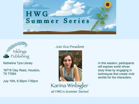 Meet Me at HWG's Summer Series!