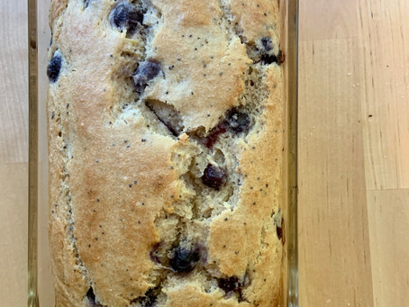Lemon Blueberry Poppy Seed Breakfast Cake