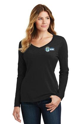 Womens LPC450VLS Long Sleeve Cotton TShirt - Screen Printed - Left Crest