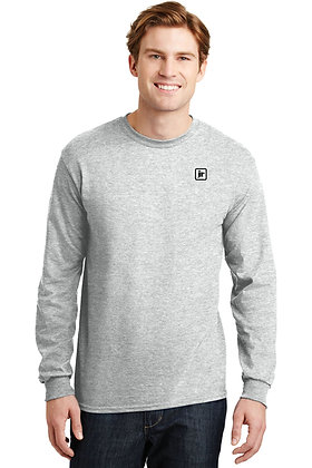 Gildan 8400 50/50 Dry Blend LS Tshirt with Embroidered Logo