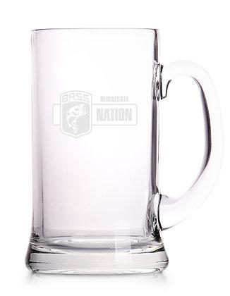 Glass Beer Mug - Laser Etched MNBN Logo