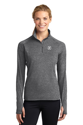 Womens SportTek LST850 Sport-Wick Stretch 1/2-Zip Pullover with Embroidered Logo