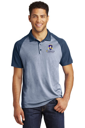 Mens RacerMesh® Raglan Heather Block Polo ST641 - Embroidered (4 Logo Opt