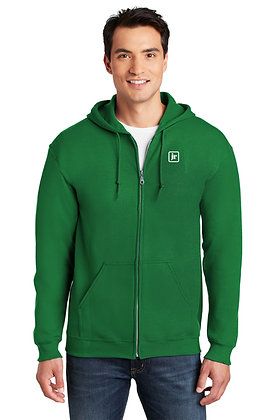 Gildan 18600 50/50 Dry Blend Zip Up Hoodie w/Embroidered Logo