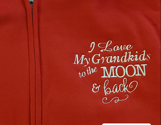 I Love My Grandkids Zip Up Hoodie