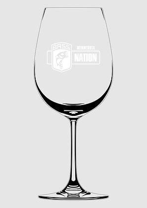 Glass Wine Glass - Laser Etched MNBN Logo