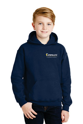 Youth 50/50 Dry Blend Hoodie 18500B - Embroidered (3 Logo Options)