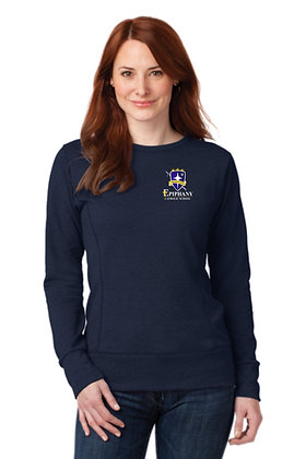 Ladies French Terry Crewneck Sweatshirt 72000L - Embroidered (4 Logo Options)