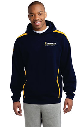 Striped Pullover Hoodie ST265 - Embroidered (2 Color & 4 Logo Options)