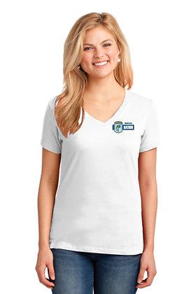 Womens LPC54V Short Sleeve Cotton TShirt - Screen Printed - Left Crest