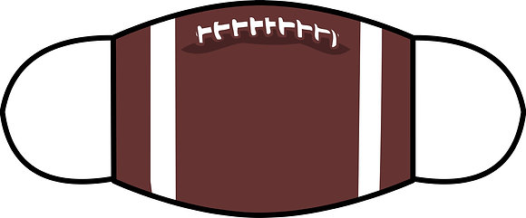Football Sublimated 3 Layer Face Mask (2 Sizes)