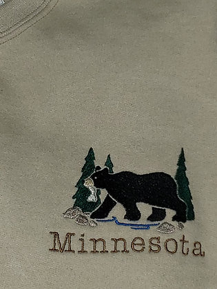 Minnesota Bear Lace Up (Hockey) Hoodie