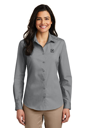 Women's Port Authority LW100 Dress Shirt with Embroidered Logo