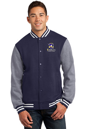 Fleece Letterman Jacket (w/Fleece Sleeves) ST270 - Embroidered (4 Logo Options)
