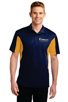 Side Block Micropique Polo ST655 - Embroidered (2 color & 3 Logo Options)