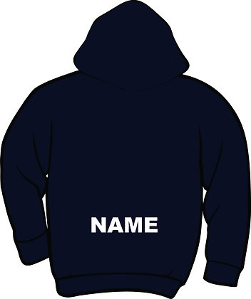 """Name on Back - 3"""" White Twill Letters (14"""" wide limit, 2"""" sub for wider)"""